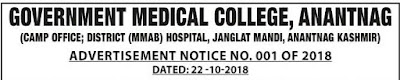 Jobs in GMC, Anantnag, Kashmir