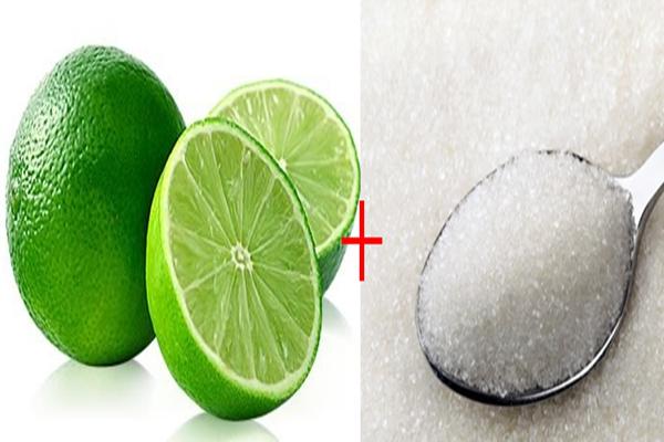 Limão e Açúcar Esfoliar o Rosto