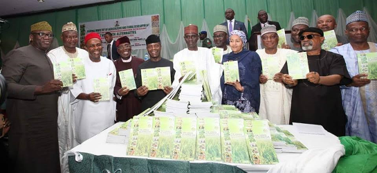 Photos: VP Osinbajo attends launch of the Green Alternative, roadmap of the Federal Ministry of Agriculture