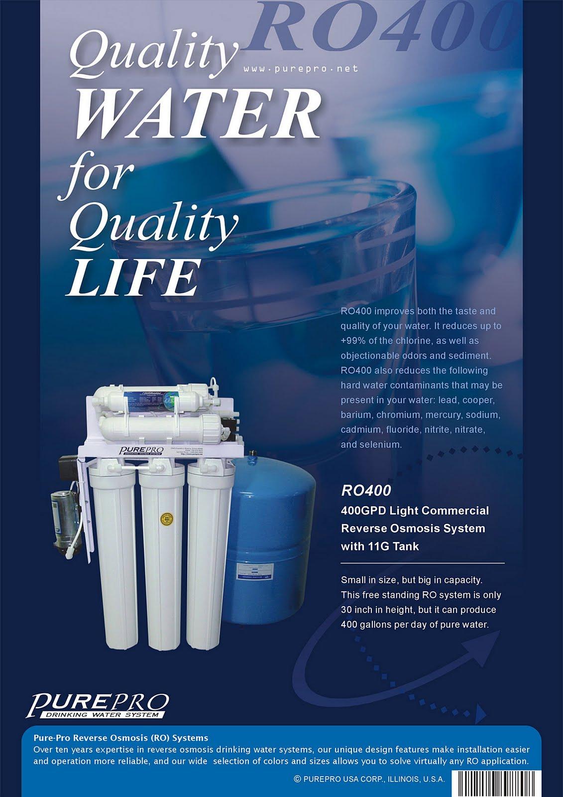 美國PurePro® RO400 : 商用餐飲RO淨水器 - 400加侖超大製水量.配11加侖儲水桶