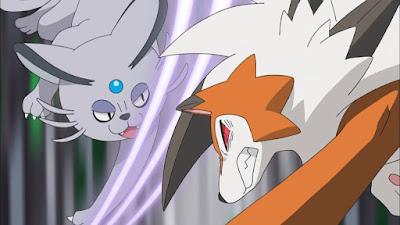 Pokemon Sol y Luna Capitulo 77 Temporada 20 La gran prueba de Kuchinashi, el despertar de Lycanroc