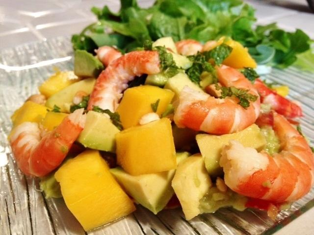 Favori Claire Au Matcha: Salade Thai aux mangues et crevettes TB63