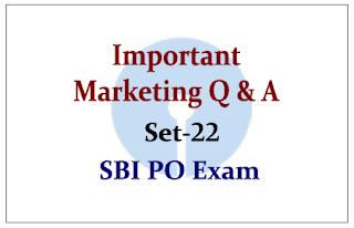 Important Marketing Questions- Set 22