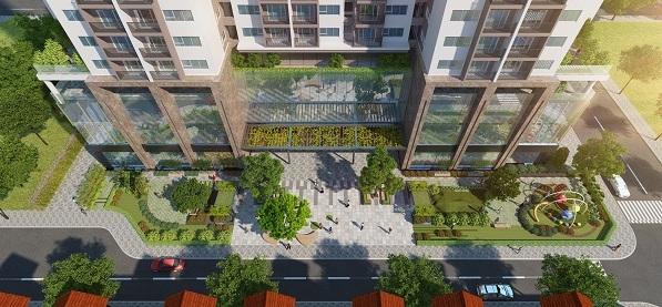 Khuôn viên xanh tại Eco Dream