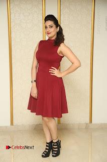 Telugu Tollywood Anchor Manjusha Pos in Red Short Dress  0164.JPG