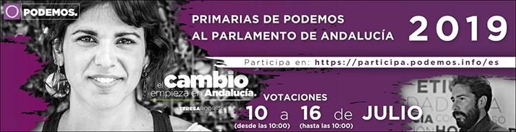 PRIMARIAS DE PODEMOS AL PARLAMENTO DE ANDALUCÍA 2019