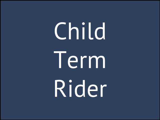 Children's Term Rider