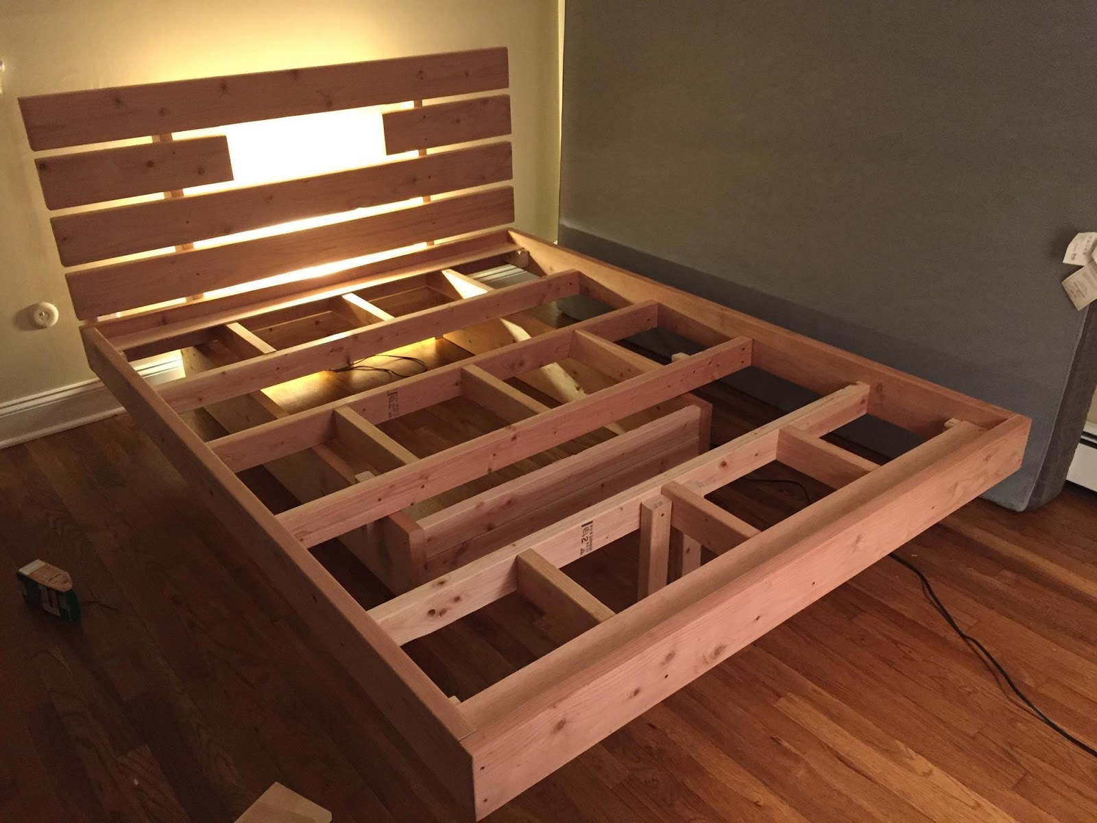 diy floating bed project
