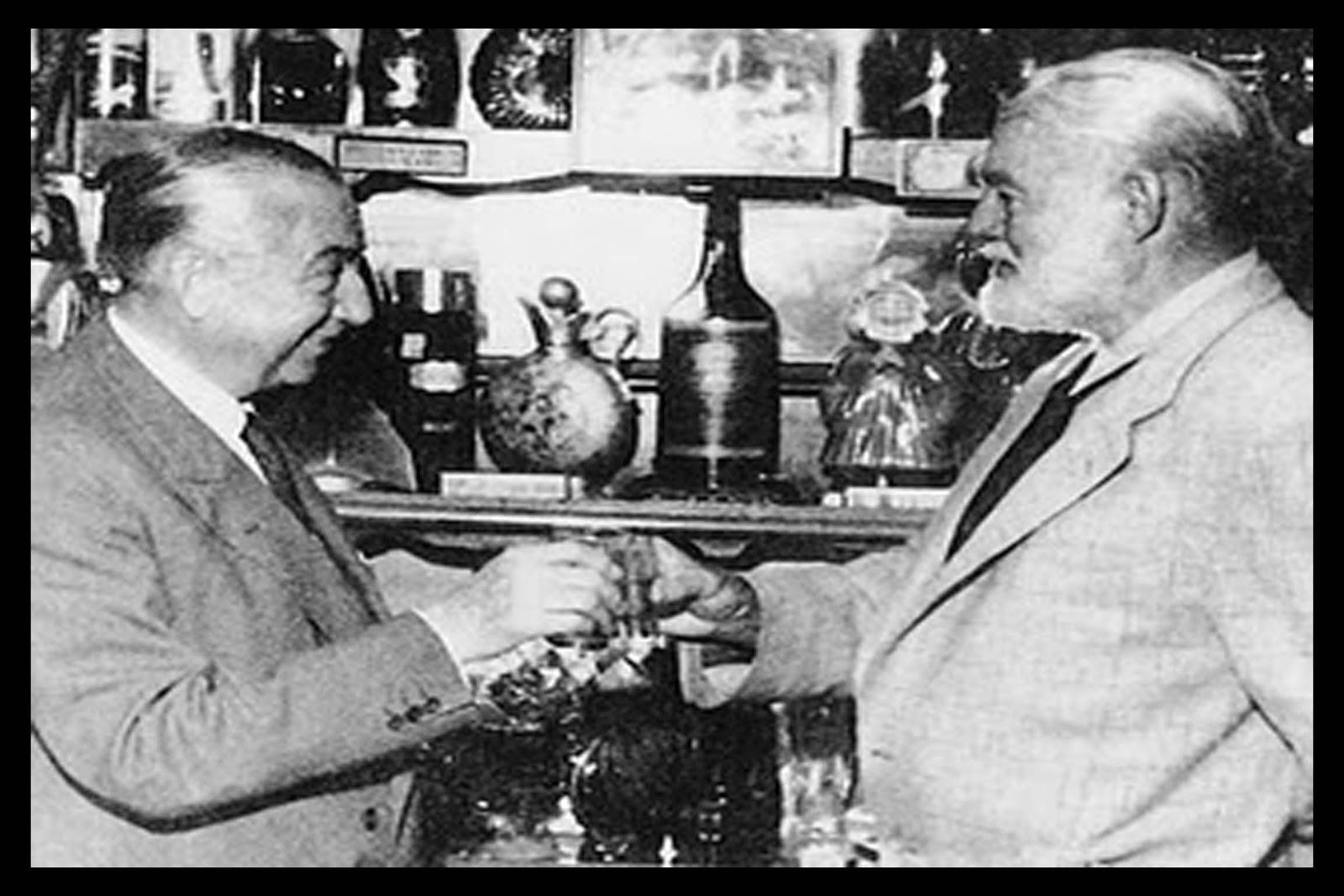Chicote y Ernest  Hemingway