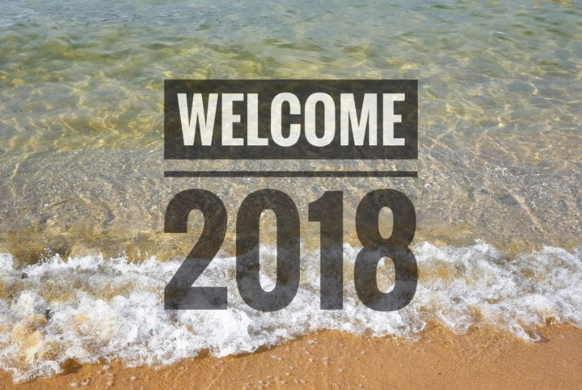 Welcome 2018 New Year Goodbye 2017