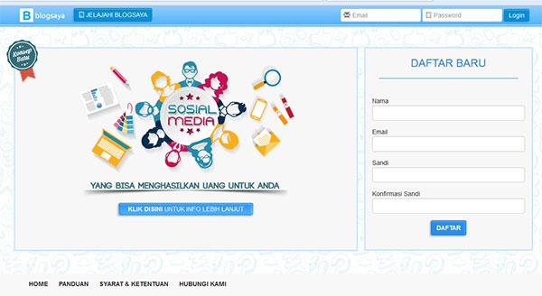 halaman pendafyaran blogsaya.com