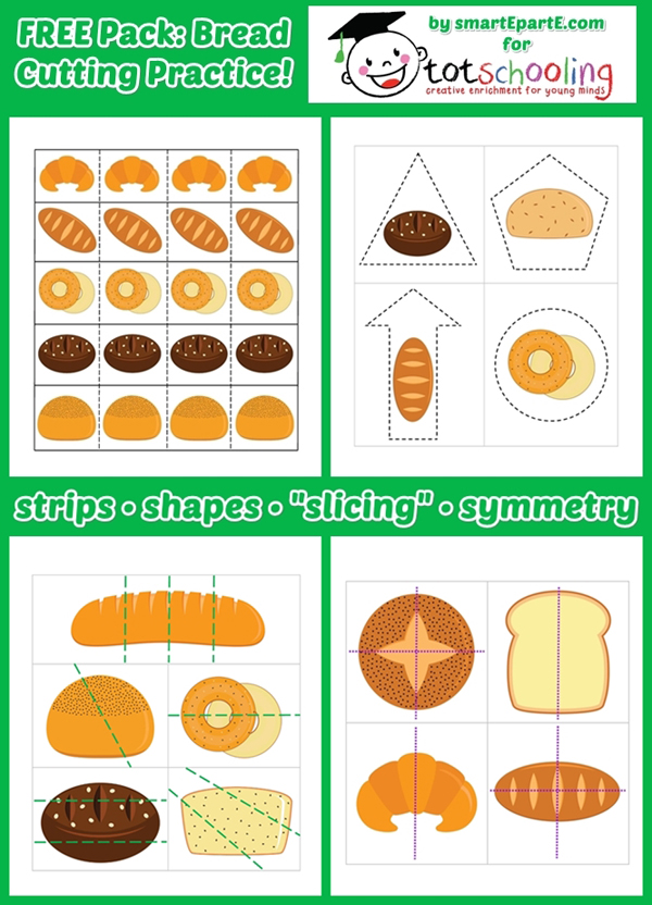 Free Worksheets preschool reading worksheets free : Bread Science Experiment + Free Printable Bread Cutting ...
