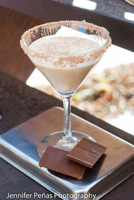 chocolate covered marshmallow cocktail, marshmallow vodka, Godiva chocolate liqueur, cream, milk
