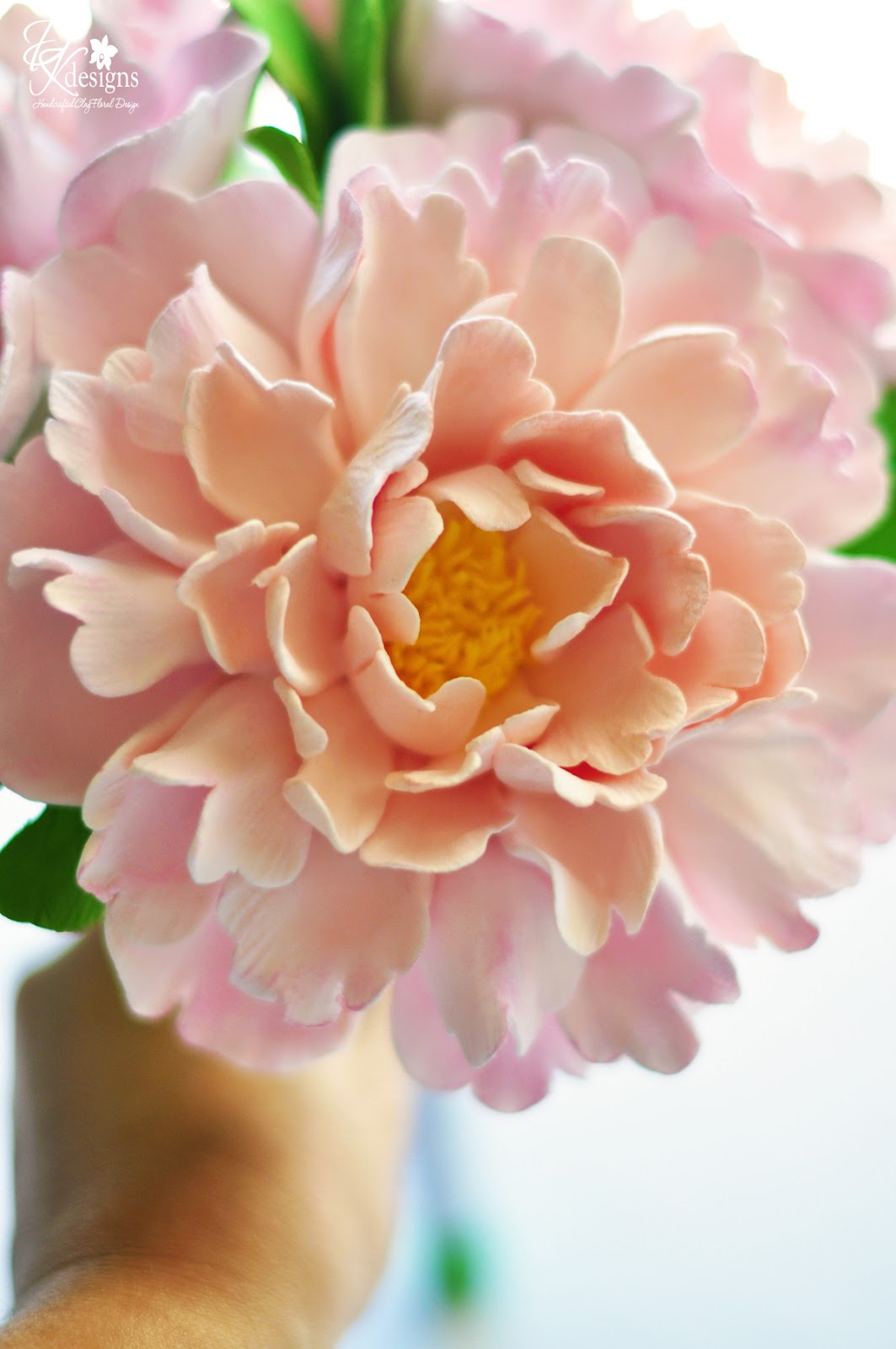 DK Designs: Peachy Pink Peony Bouquet