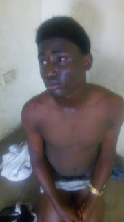A Nigerian gay stripped naked and disgraced