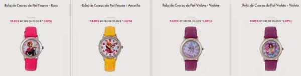 Relojes Frozen y Violetta
