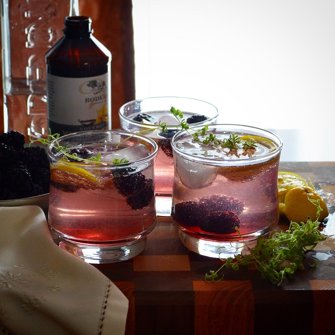 Pure and Peanut Free: Time {Blackberry Gin & Tonic}