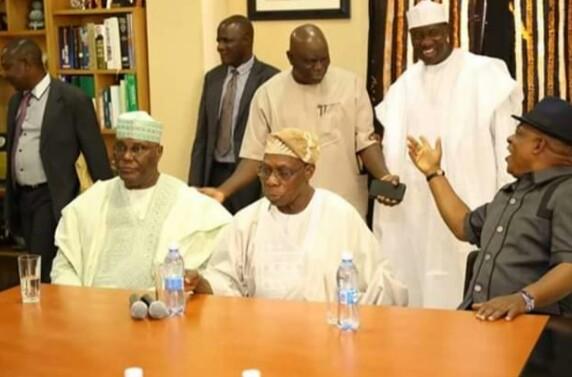 PHOTOS: Obasanjo Finally Settles With Atiku After Prayers
