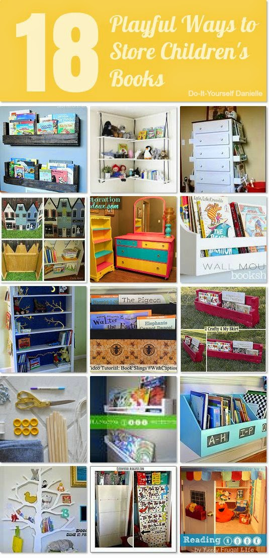 18 Playful Ways to Store Children's Books