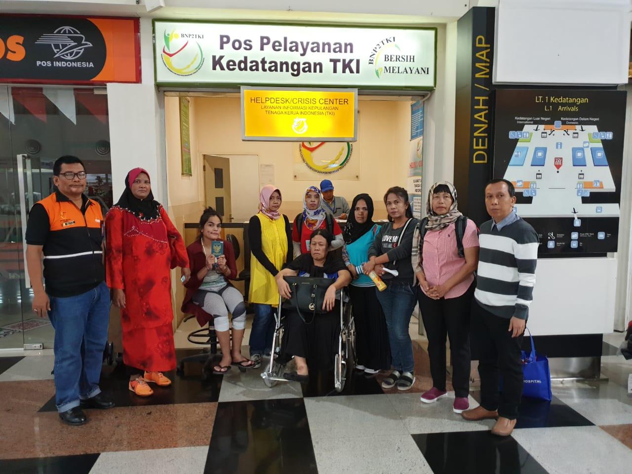 BP3TKI Kualanamu Fasilitasi Pemulangan 8 TKI dari Malaysia