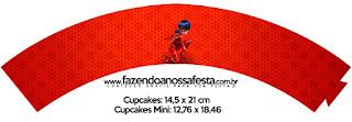 Wrappers para Cupcake de Prodigiosa Ladybug.