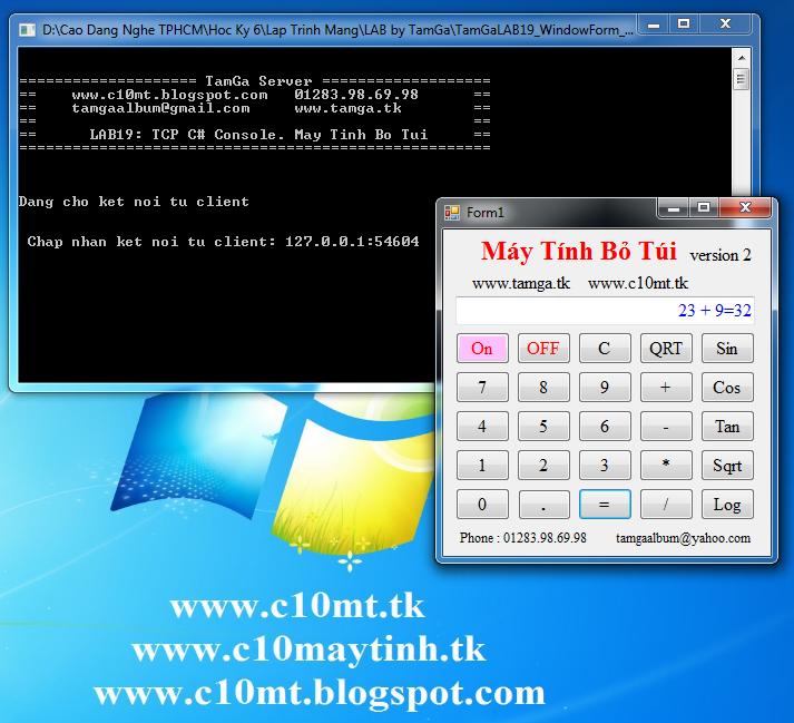 lập trình mạng Windows Form & Console C#