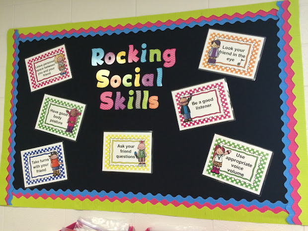 Speech Ladies Rocking Social Skills Bulletin Board