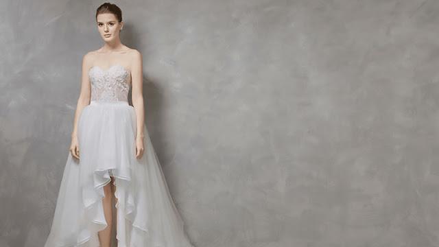 robe de mariée courte devant longue derrière bustier coeur jeu transparent