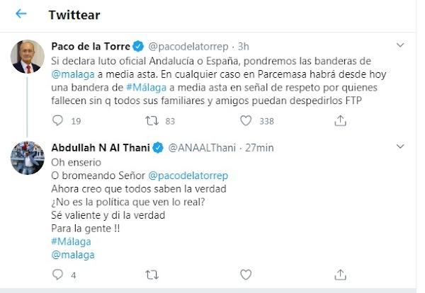Al-Thani arremete contra Paco de la Torre y la Unión Europea