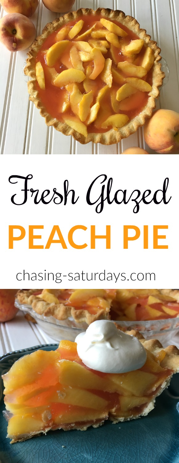 Peaches, Glazed Pie, Peach Pie, Dessert