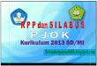 RPP dan Silabus PJOK Kurikuum 2013 SD/MI revisi 2017