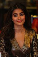 Pooja Hegde looks glamarous in deep neck sleevless short tight golden gown at Duvvada Jagannadham thank you meet function 174.JPG
