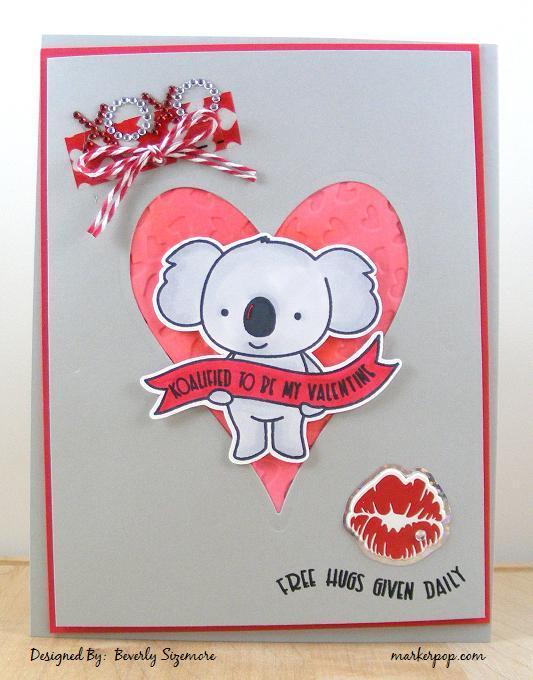 Bev S Creative Path Valentine Koala Card