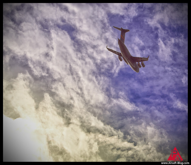 Veterans Day, Boeing C-17A Globemaster III, Military-Transport Aircraft, HUGE Military Cargo Plane, Veterans Day C-17 Flyover in Redlands, USAF, United States Air Force, Airsoft Guns, Pyramyd Airsoft Blog, Tom Harris Media, Tominator,