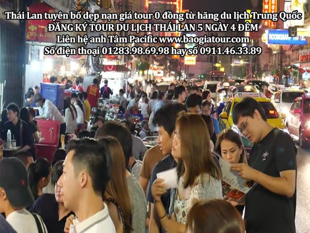 Thái Lan tuyên bố dẹp nạn giá tour 0 đồng từ hãng du lịch Trung Quốc