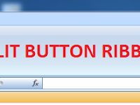 CARA MEMBUAT SPLIT BUTTON RIBBON EXCEL