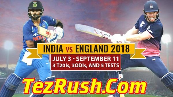 India Tour Of England 2018 Schedule Logo TezRush