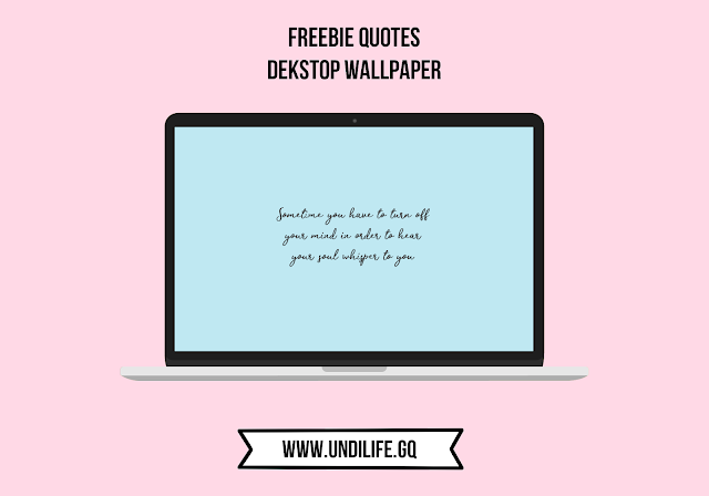 Freebie Minimalist Quotes Wallpaper fo Dekstop (10 Wallpapers)