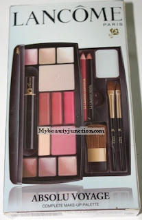 Lancome Absolu Voyage travel palette review, swatches and photos