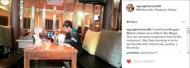 My Instagram Update Post in Bumi Aki