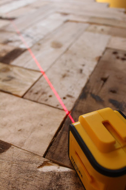 Using a Laser Level for Herringbone