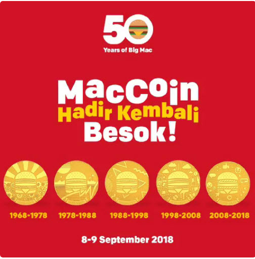 MCDonald - Promo MacCoin Gratis Pembelian Paket Hemat Large Big Mac (s.d 9 Sept 2018)