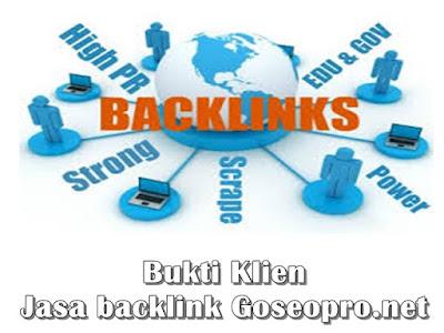 Bukti Klien Jasa Backlink Kami
