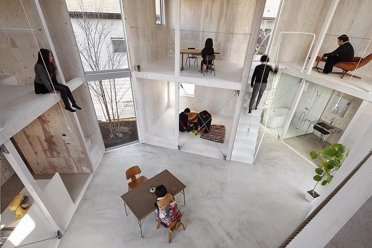 Casa minimalista en kashiwa yamazaki kentaro design for Los mejores disenos de interiores del mundo