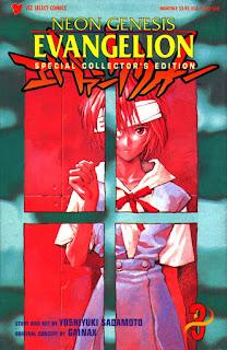 Εξώφυλλο της αγγλικής συλλεκτικής έκδοσης του 3ου Stage του Neon Genesis Evangelion, ενός από τα λίγα μάνγκα που δημιουργήθηκαν μετά το αντίστοιχο άνιμε.