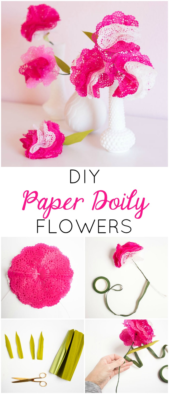 Diy Paper Doily Flowers Design Improvised