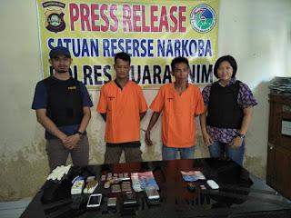 Dua Orang Pengguna Narkoba berhasil dibekuk Polres Muara Enim