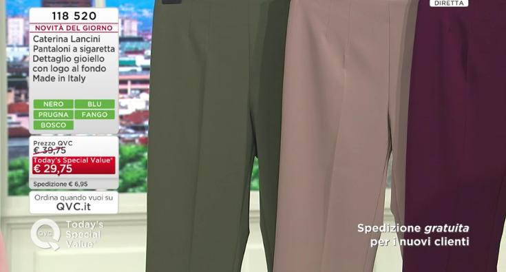 pantaloni caterina lancini qvc