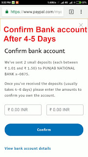 confirm bank account