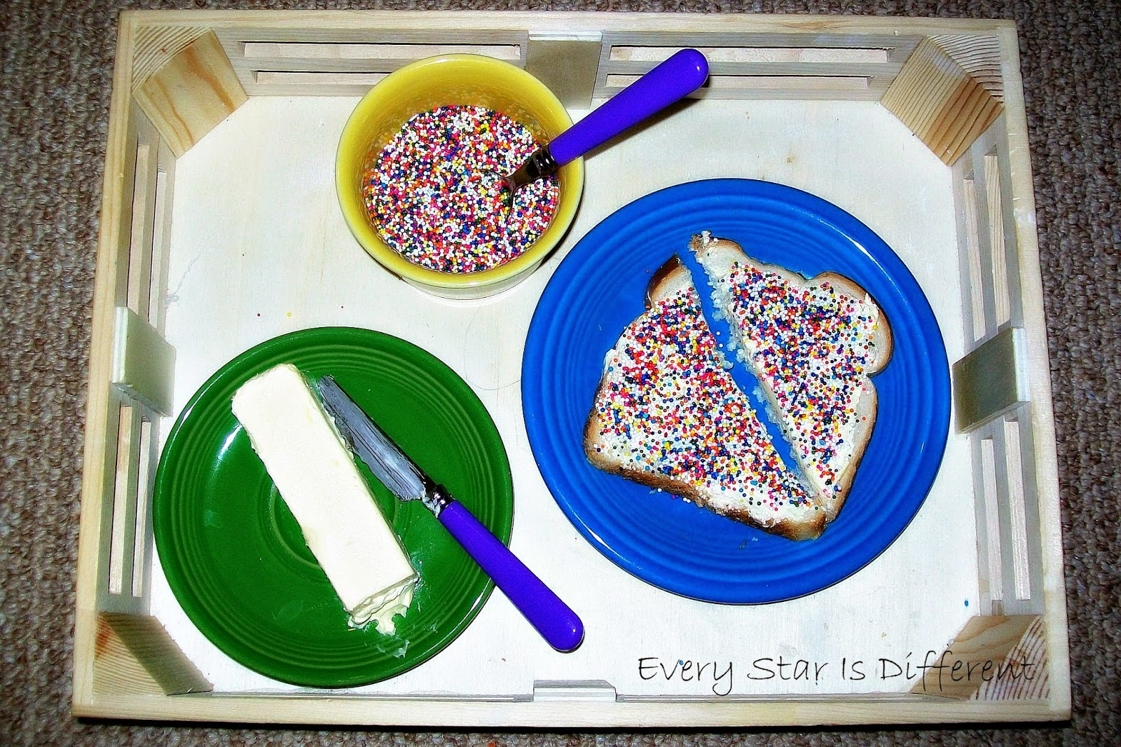 Making Fairy Bread from Australia (Montessori Practical Life Activity